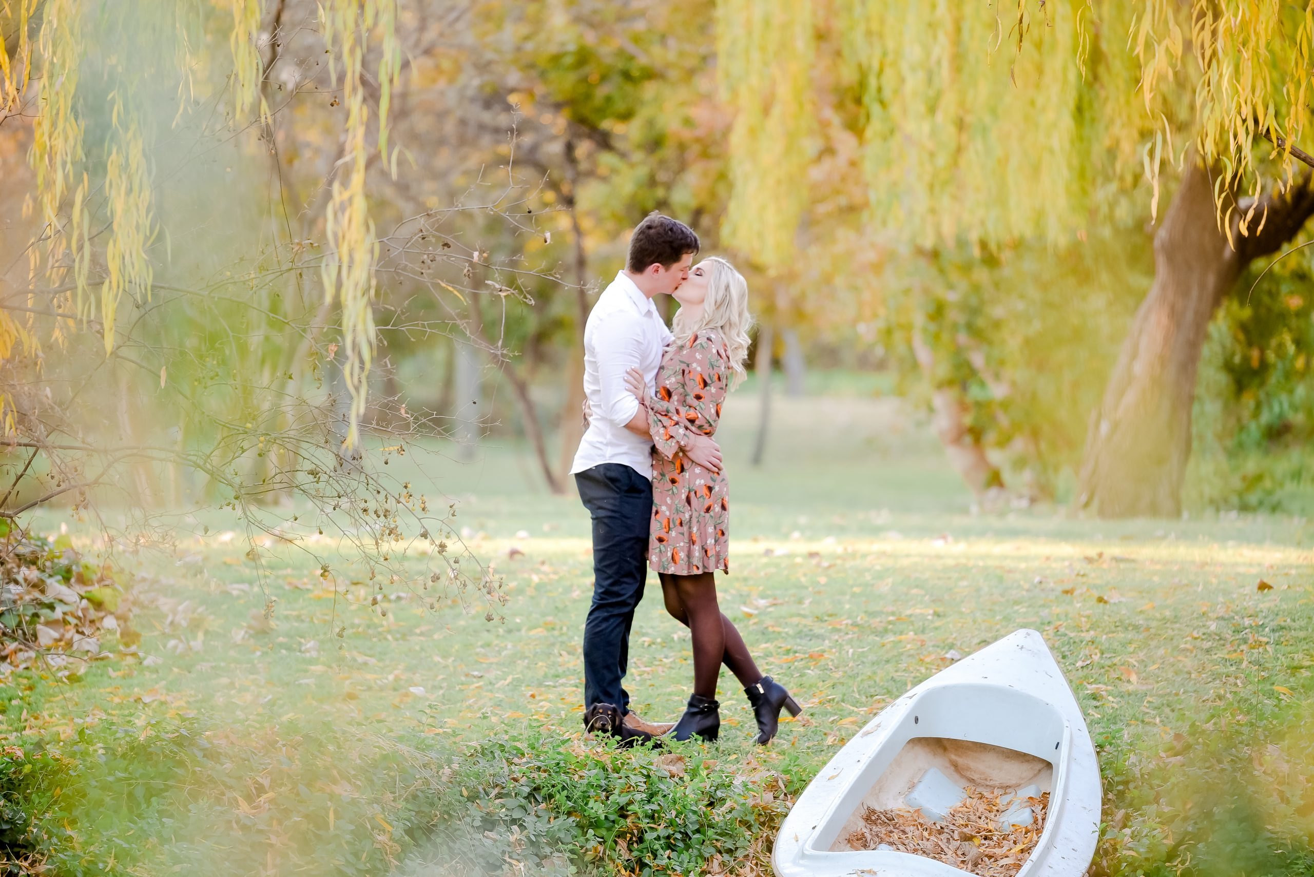 Engagement Photoshoot at Rosella Farm Bloemfontein with Puppy
